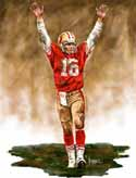 8 X 10 Joe Montana San Francisco 49ers Limited Edition Giclee Series #1