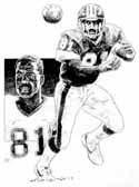 Art Monk Washington Redskins Limited Edition Lithograph