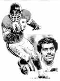 Alan Page Minnesota Vikings Limited Edition Lithograph