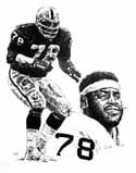 Art Shell Oakland Raiders Limited Edition Lithograph
