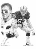 Bill Romanowski Oakland Raiders Limited Edition Lithograph