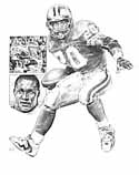 Barry Sanders Detroit Lions Limited Edition Lithograph