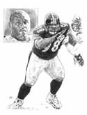 Casey Hampton Pittsburgh Steelers Limited Edition Lithograph