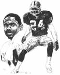 Charles Woodson Oakland Raiders Limited Edition Lithograph