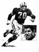 Ernie Stautner Pittsburgh Steelers Limited Edition Lithograph