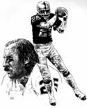 Fred Biletnikoff Oakland Raiders Limited Edition Lithograph