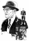 George Halas Chicago Bears Limited Edition Lithograph