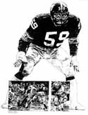 Jack Ham Pittsburgh Steelers Limited Edition Lithograph