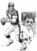 Joe Theismann Washington Redskins Limited Edition Lithograph