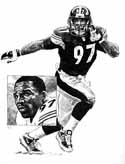 Kendrell Bell Pittsburgh Steelers Limited Edition Lithograph