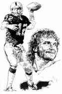 Kenny Stabler Oakland Raiders Limited Edition Lithograph