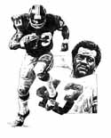 Larry Brown Washington Redskins Limited Edition Lithograph