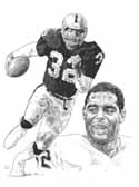 Marcus Allen Oakland Raiders Limited Edition Lithograph