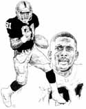 Tim Brown Oakland Raiders Limited Edition Lithograph