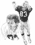 Tedd Hendricks Oakland Raiders Limited Edition Lithograph