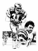 Wilbert Montgomery Philadelphia Eagles Limited Edition Lithograph