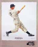 Joe DiMaggio New York Yankees Lithograph