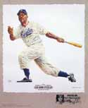 Monte Irvin Newark Eagles Lithograph