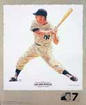Mickey Mantle New York Yankees Lithograph