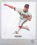 Nolan Ryan California Angels Lithograph