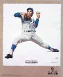 Sandy Koufax Los Angeles Dodgers Lithograph
