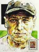 Lou Gehrig New York Yankees Print with Legends of Baseball Stamp