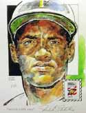 Roberto Clemente Pittsburgh Pirates Print with Puerto Rico Stamp