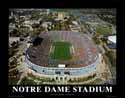 11 X 14 Notre Dame Stadium Notre Dame Fighting Irish Aerial Print