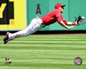Mike Trout 2013 Action Los Angeles Angels Photo