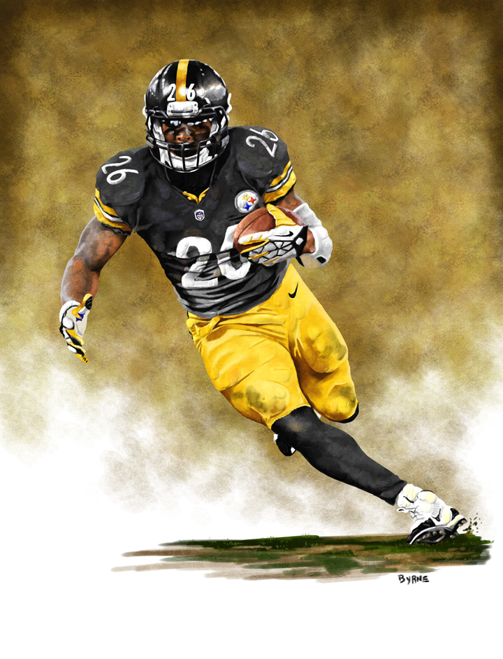 8 X 10 Le'Veon Bell Pittsburgh Steelers Limited Edition Giclee Series #1