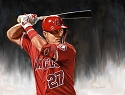 8 X 10 Mike Trout Los Angeles Angels Limited Edition Giclee Series #5