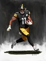 8 X 10 Chase Claypool Pittsburgh Steelers Limited Edition Giclee Series #5