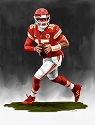 13 X 17 Patrick Mahomes Kansas City Chiefs Limited Edition Giclee Series #5