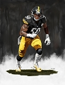 8 X 10 Ryan Shazier Pittsburgh Steelers Limited Edition Giclee Series #5