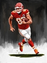 13 X 17 Travis Kelce Kansas City Chiefs Limited Edition Giclee Series #5