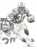 Ahman Green Green Bay Packers Original Artwork By Michael Mellett