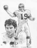 Bernie Kosar Cleveland Browns Original Artwork By Michael Mellett