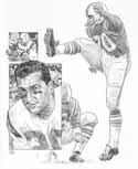 Gino Cappelletti New England Patriots Original Artwork By Michael Mellett