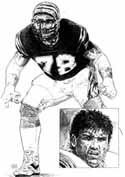 Anthony Munoz Cincinnati Bengals Original Artwork By Michael Mellett