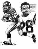 Ahmad Rashad Minnesota Vikings Original Artwork By Michael Mellett