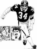 Andy Russell Pittsburgh Steelers Original Artwork By Michael Mellett