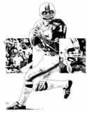 Bob Griese Miami Dolphins Original Artwork By Michael Mellett