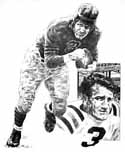 Bronko Nagurski Chicago Bears Original Artwork By Michael Mellett