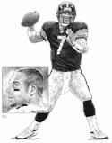 Ben Roethlisberger Pittsburgh Steelers Original Artwork By Michael Mellett