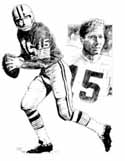 Bart Starr Green Bay Packers Original Artwork By Michael Mellett