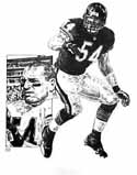 Brian Urlacher Chicago Bears Original Artwork By Michael Mellett