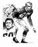 Chuck Bednarik Philadelphia Eagles Original Artwork By Michael Mellett