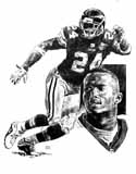Champ Bailey Washington Redskins Original Artwork By Michael Mellett