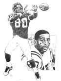 Cris Carter Minnesota Vikings Original Artwork By Michael Mellett