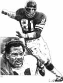 Carl Eller Minnesota Vikings Original Artwork By Michael Mellett